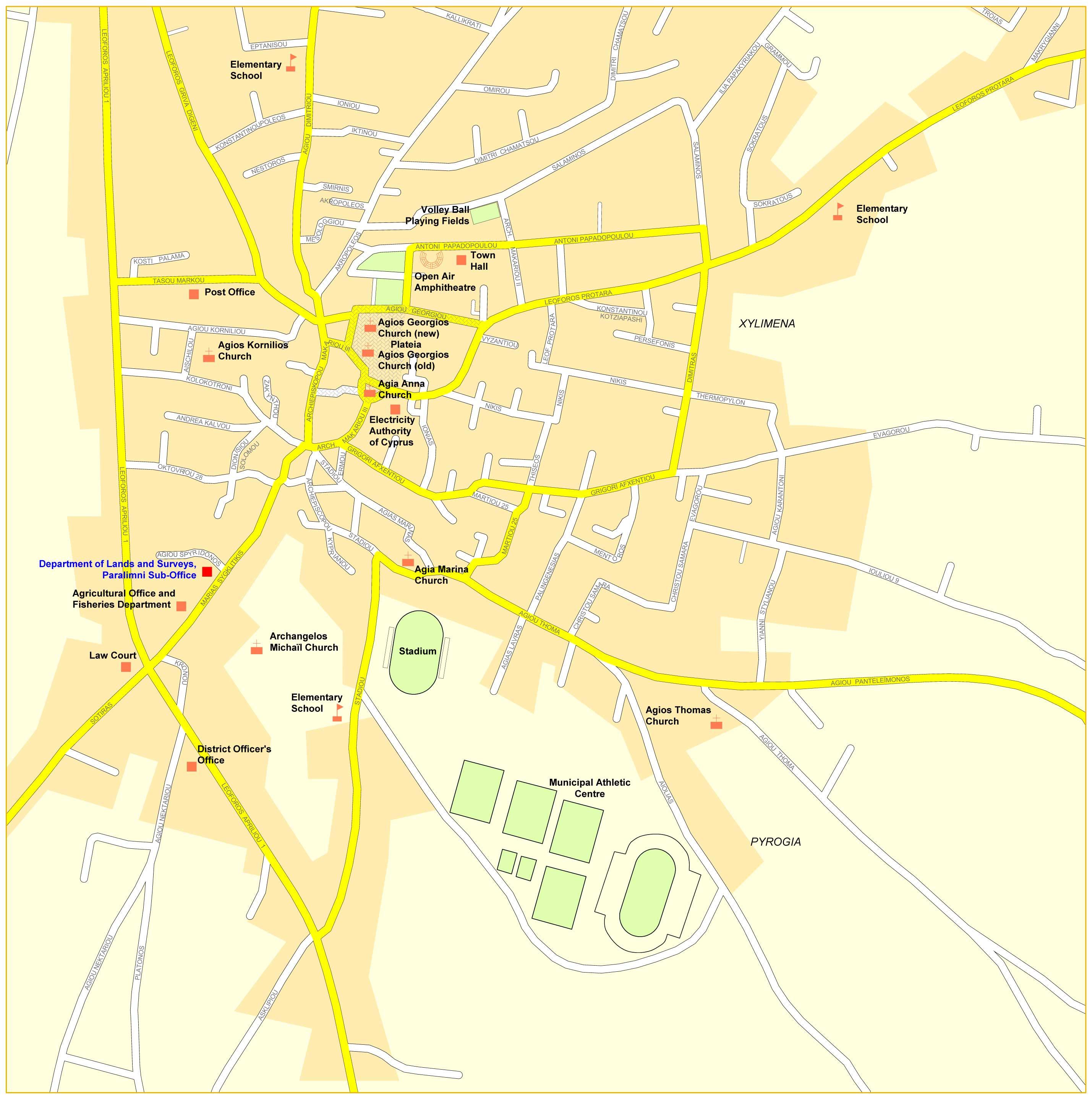 Айя напа подробная карта